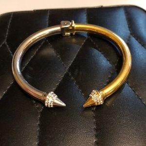 Vita Fede Mini Titan Gold Silver Crystal Bracelet